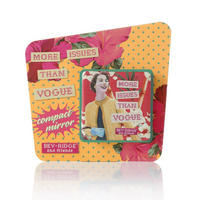 "Bev Ridge & Friends ""More Issues Than Vogue"" Square Compact Mirror Thumbnail 1"