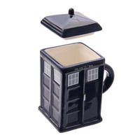Police Box Shaped Mug With Lid