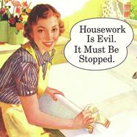 Housework Is Evil. It Must Be Stopped Single Coaster
