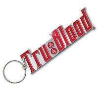 "True Blood ""Tru:Blood"" Drink Logo Metal Keyring"