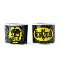 Set of 2 Batman Crime Fighter Ceramic Egg Cups Thumbnail 1
