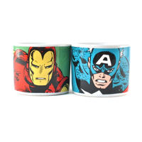 Set of 2 Iron Man & Captain America Ceramic Egg Cups