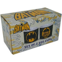 Set of 2 Batman Crime Fighter Ceramic Egg Cups Thumbnail 2