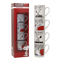 Peanuts Set Of 4 Stacking Mugs