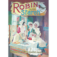 """Robin The New Starch Postcard """"Reckitt & Sons Limited, London & Hull"""""""