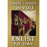 "There's Room For You Postcard ""Enlist Today"""