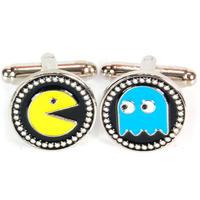 Pac Man & Blue Ghost Cufflinks
