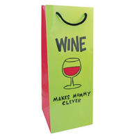 Wine Makes Mummy Clever Bottle Gift Bag