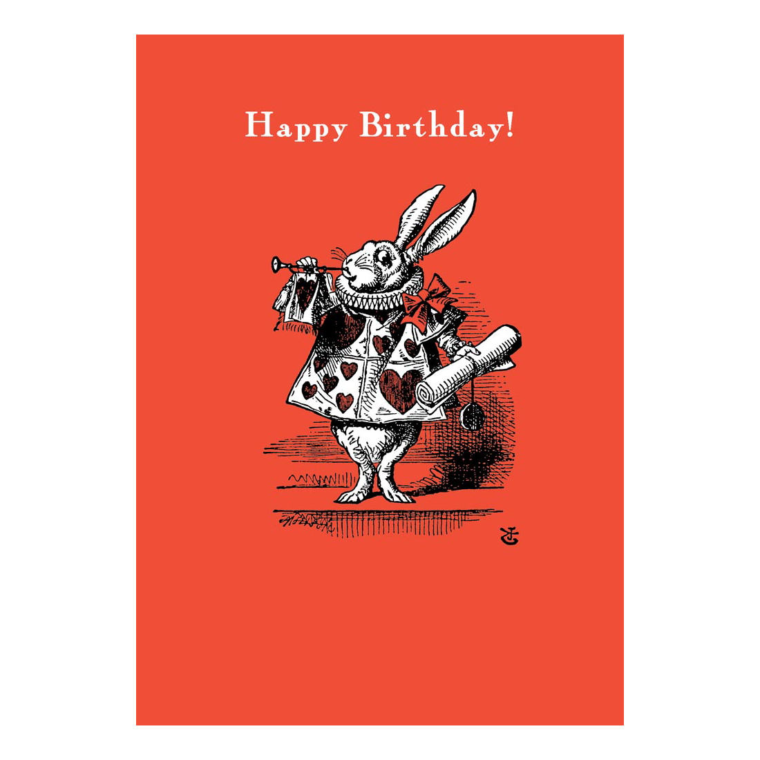 ALICE IN WONDERLAND HERALD RABBIT HAPPY BIRTHDAY CARD RETRO – Birthday Card Book