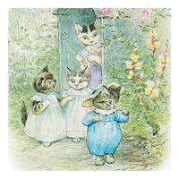 Square Beatrix Potter Kittens Greeting Card