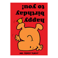 Mr Men Mr Topsy Turvy Greeting Card