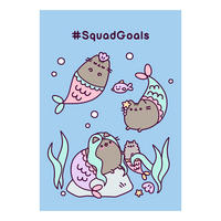 Pusheen #SquadGoals Greeting Card