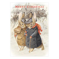 Beatrix Potter Mr & Mrs Rabbit Christmas Card