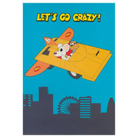 Danger Mouse & Penfold Let's Go Crazy! Greeting Card Thumbnail 1