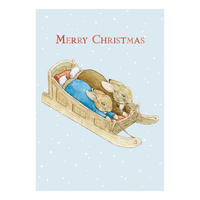 Peter Rabbit & Benjamin Bunny Sleigh Christmas Card