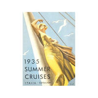 1935 Summer Cruises Postcard