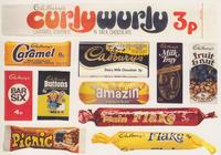 Cadbury's 1970s Chocolate Bars Postcard