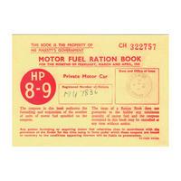 Motor Fuel Ration Book Postcard