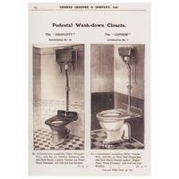 Thomas Crapper Pedestal Wash Down Closets Postcard