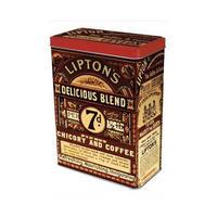 Lipton's Chicory & Coffee Hinged Lid Tin Canister