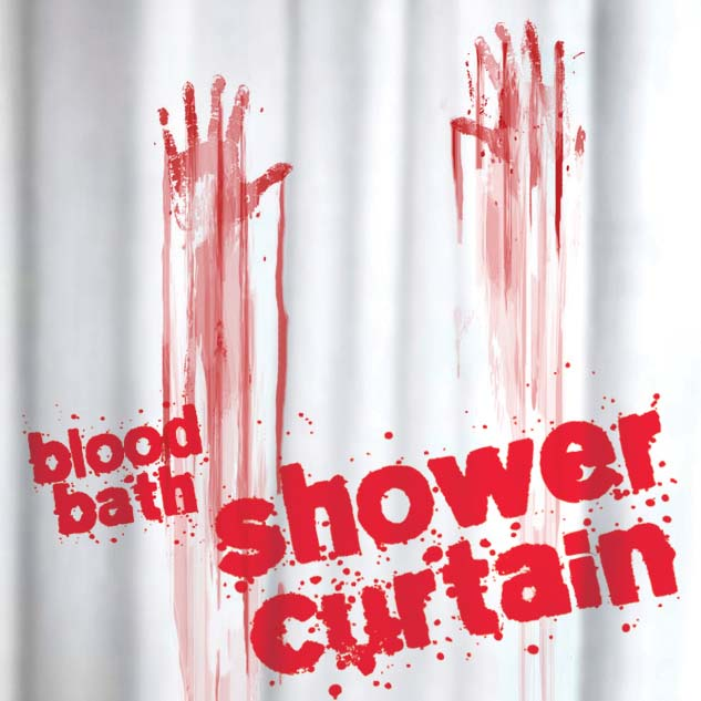 new blood bath shower curtain bathroom novelty horror gift