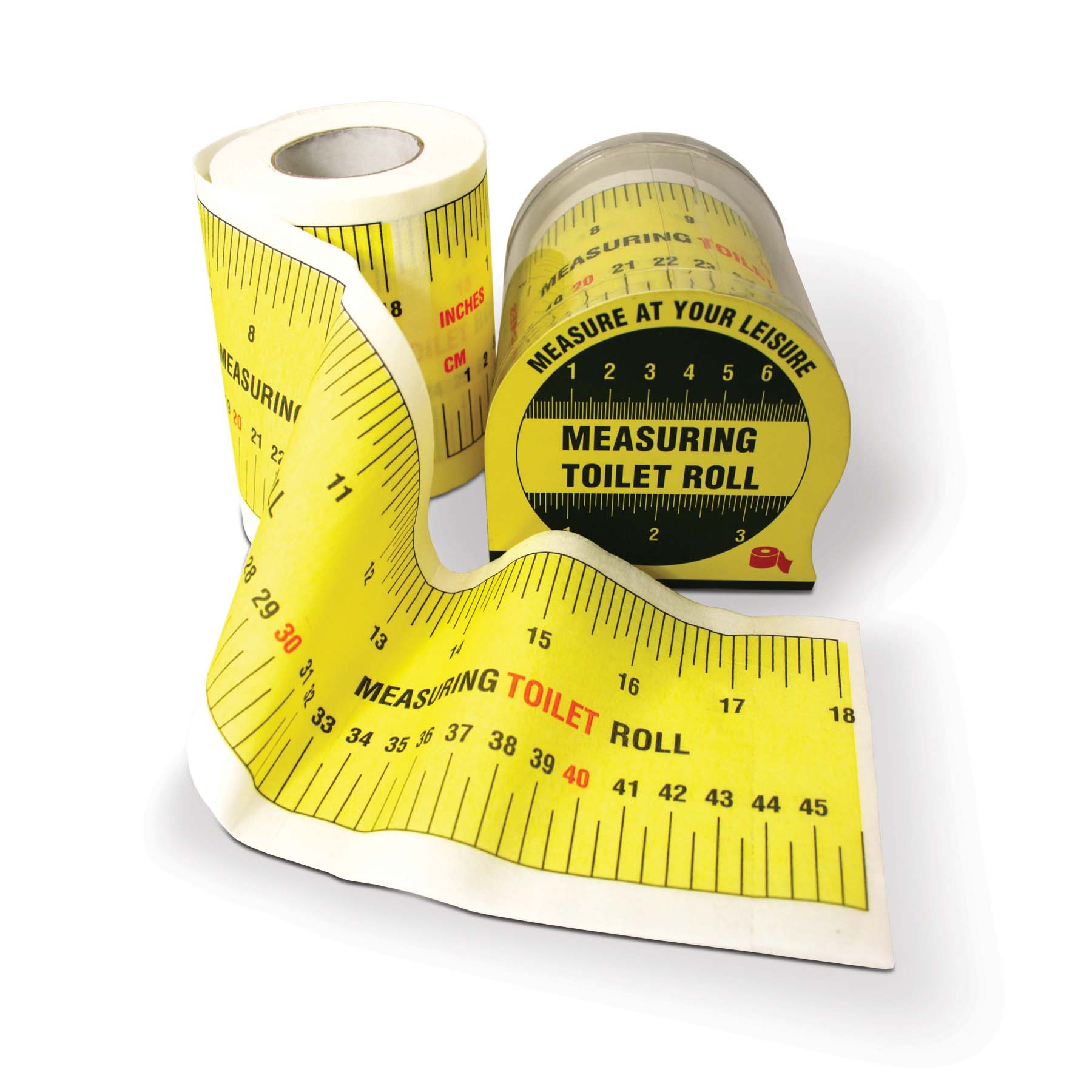 Details about NEW MEASURING TAPE TOILET ROLL NOVELTY GIFT BATHROOM LOO ...