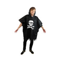 Pirate Flag Waterproof Poncho