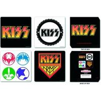 KISS Logos Coaster Set (4 Coasters)