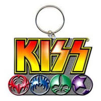 KISS Logo & Masks Metal Keyring