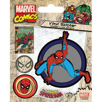 Spider-Man Sheet of 5 Vinyl Stickers