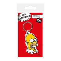 The Simpsons Homer Face PVC Keyring