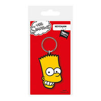 The Simpsons Bart Face PVC Keyring