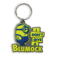 "Minions ""I Don't Give A Blumock"" Rubber Keyring"