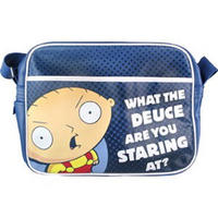 "View Item Family Guy's Stewie ""What The Deuce Are You Staring At?"" Shoulder Bag"