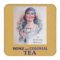 "Home And Colonial Tea ""It?s Perfectly Delicious"" Single Coaster"
