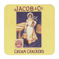 Jacob & Co's Cream Crackers Single Coaster