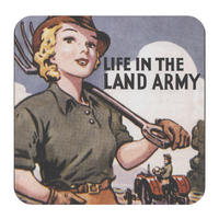 Life In The Land Army Single Coaster