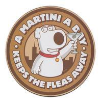 "Family Guy's Brian ""A Martini A Day Keeps The Fleas Away"" Single Coaster"