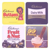 Cadbury's Retro Chocolate Bars Set of 4 Coasters