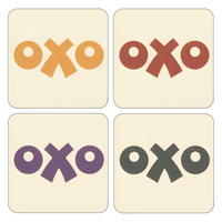 OXO Logo Set of 4 Coasters