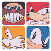 Sonic The Hedgehog & Friends Set of 4 Coasters