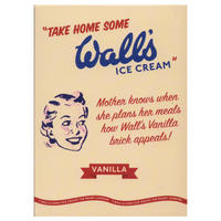 "Vintage Wall's Vanilla Ice Cream ""Mother Knows"" Fridge Magnet"