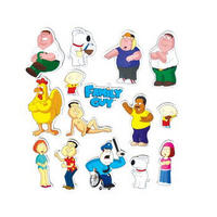 View Item Family Guy 16 Piece Magnet Set