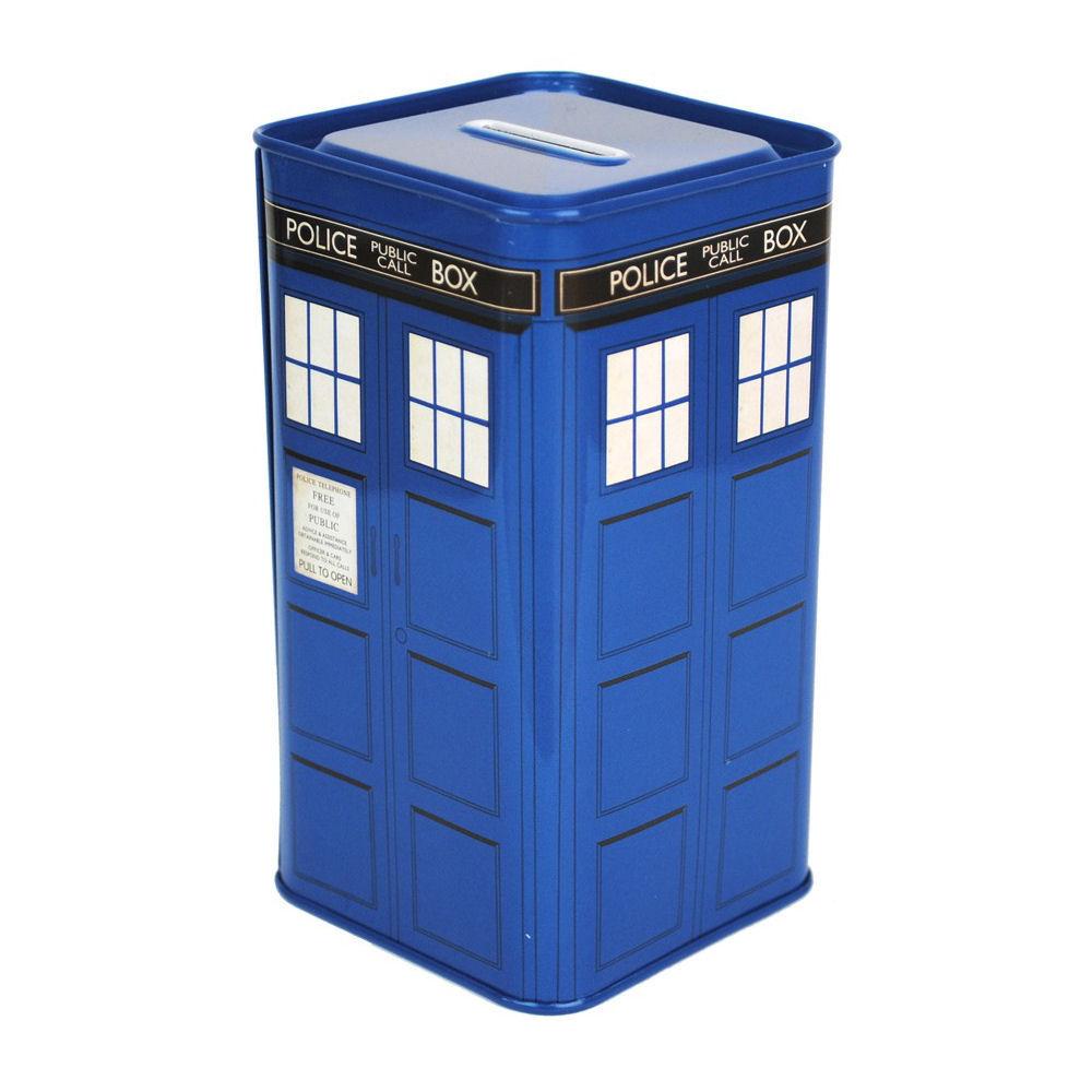 New tall metal tardis money box tin piggy bank dr doctor who dalek gift novelty ebay - Tardis piggy bank ...