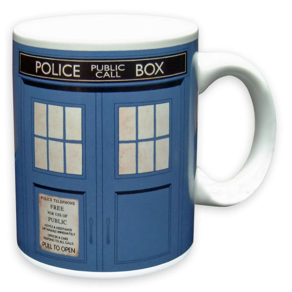 NEW OFFICIAL DOCTOR WHO TARDIS BOXED MUG POLICE BOX CERAMIC COFFEE CUP RETRO DR