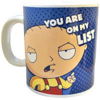 "View Item Family Guy's Stewie ""You Are On My List"" Giant Mug (750ml)"