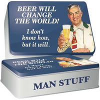 Beer Will Change The World! Rectangle Storage Tin