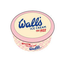 Vintage Wall's Strawberry Ice Cream Biscuit/Cake Tin