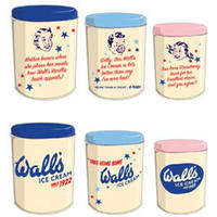 Vintage Wall's Ice Cream Tin Canisters