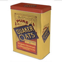 Quaker Oats Cereal Tin Canister